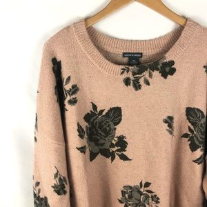 Chelsea & Theodore Blush Rose Print Bubble Sweater